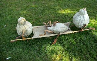 Hobbits aus Kürbissen#1  - Hobbit, Kürbis, Dekoration, krank, Trage