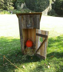 Hobbits aus Kürbissen#2  - Kürbis, Kürbisdekoration, Herbst, Hobbit, stilles Örtchen, Toilette