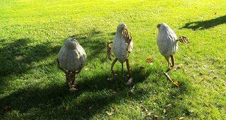 Hobbits aus Kürbissen#3 - Kürbis, Kürbisdekoration, Herbst, spielen Wiese