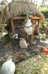 Hobbits aus Kürbissen#7 - Kürbis, Kürbisdekoration, Herbst, Hobbit, Hütte, Wohnung