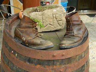 Wanderschuhe - Schuhe, wandern, Pass, Rast, Schreibanlass