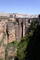 """""""Neue Brücke"""" – Puente Nuevo in Ronda  - Brücke, Übergang, Schlucht, Architektur, Straßenbrücke, Torbogen, Ronda, Andalusien"""