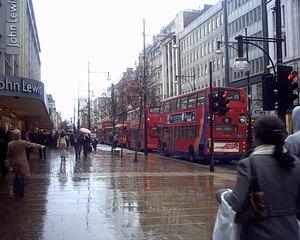 Big Red Bus - Oxford Street London - Doppeldecker, Red bus, Oxford Street, London, Bus, Regen