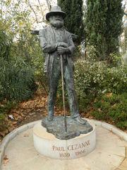 Paul Cézanne - Frankreich, Paul Cézanne, Maler, peintre, Statue, Denkmal, Hut, Provence