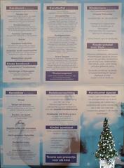 Speisekarte #6 - Speisekarte, Essen, Menu, kerst, kerstbuffet, Buffet, voorgerechten, kerstdiner, kerstlunch, amuse