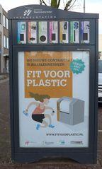Hinweis Mülltrennung - Hinweis, Hinweisschild, Mülltrennung, fit voor plastic, inzamelstation