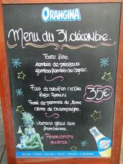 menu 31 décembre - Frankreich, civilisation, réveillon, menu, Sylvestre, manger, restaurant, panneau, Schild