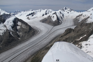 Aletschgletscher mit Konkordiaplatz - Gletscher, Eis, Firnfelder, Eismasse, Kees, Ferner, Schnee