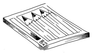 Zeichenblock Din A3 - Zeichenblock, Block, Malen, Malblock, Kunst, Din A3, Papier, Wörter mit ck