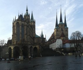 Erfurt, Dom und Severikirche - Erfurt, Dom, Gotik, gotisch