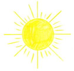 Sonne - Sonne, Anlaut S, strahlen, hell, leuchten, gelb, heiß, Wörter mit Doppelkonsonanten