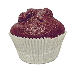 Muffin aus Schokoteig - Muffin, Muffins, Kuchen, Gebäck, backen, Bäcker, Leckerei, süß, Süßigkeit, Schokolade, Kakao, klein, Küchlein, rund, essen, feiern