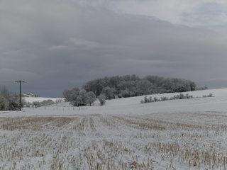 Winterlandschaft - Schnee, Winter, Schneelandschaft, Schneefeld, verschneit, Stille, Wetter, Stoppelfeld