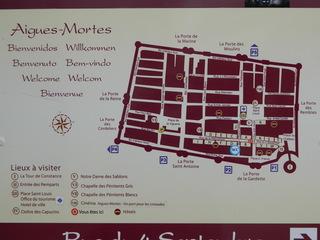Aigues-Mortes  Plan de ville - Frankreich, Aigues-Mortes, plan, ville, porte, Stadtplan