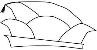 Narrenkappe s/w - Narrenkappe, Karneval, Fasching, Fastnacht, Kappe, Mütze, Tradition, Kopfbedeckung, Köln, Zeichnung, Illustration