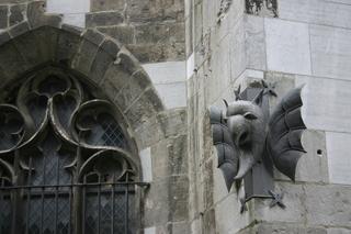 Dom Aachen, Detail Dämon - Dom, Aachen, Kirche, Dämon, Figur, Sage, Schreibanlass, Mittelalter, Aberglaube, Architektur