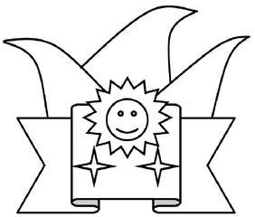 Karnevalsorden s/w - Karnevalsorden, Faschingsorden, Fastnachtsorden, Verein, Session, Auszeichnung, Ehre, anstecken, Mitglied, Verleihung, Orden, Zeichnung, Illustration, Fasching, Karneval