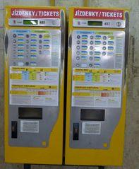 Ticketautomat - Tickel, Fahrschein, Metro, Prag, tschechisch, U-Bahn