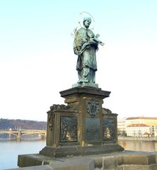 Karlsbrücke Prag: Heiliger Nepomuk #1 - Prag, Karlsbrücke, Heiliger, Brückenheiliger