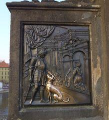Karlsbrücke Prag: Heiliger Nepomuk #2 - Brücke, Prag, Brückenheiliger, Nepomuk