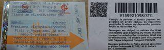 Metroticket - tschechisch - Metro, Ticket, Fahrschein, Prag, Billet, tschechisch