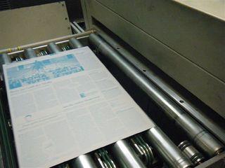 Zeitungsdruckerei #7 - Zeitungsdruckerei, Zeitungsdruck, Druckplatten, Texte, Bilder, Grafiken, Anzeigen, Farbe, cyan, magenta, gelb, schwarz