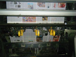 Zeitungsdruckerei #10 - Zeitungsdruckerei, Zeitungsdruck, Texte, Bilder, Grafiken, Anzeigen, Farbe, cyan, magenta, gelb, schwarz