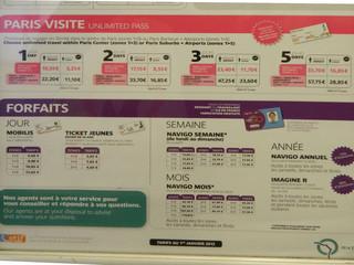 Paris Visite - Paris, visite, métro, RER, Tickets, Billets, Fahrkarten, Navigo, forfait