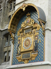 Horloge - Palais de la Cité - Frankreich, Paris, horloge, Uhr, île de la Cité, Palais de la Cité