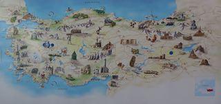 Türkei - Landkarte - Türkei, Gesamtansicht, Sehenswürdigkeiten, Landkarte, Tourismus