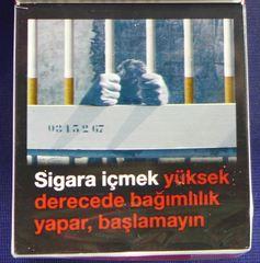 Warnhinweis - Zigaretten, Zigarettenschachtel, Tabak, rauchen, gefährlich, Warnung, Hinweis, Warnhinweis, warnen, Gesundheit