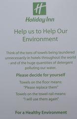 Hinweis - Umwelt, Umweltbewusstsein, Schmutzwäsche, environement, healthy, Hotel, anweisung, Information