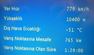 Fluginformationen - türkisch - Fluginformation, Display, türkisch, Flugbetrieb, Information, Flugplan, Flugroute, Flughöhe, Flugzeit