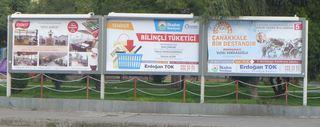 Reklametafeln - türkisch - Reklame, Plakat, Plakate, Werbung, Plakatwerbung, Werbeträger