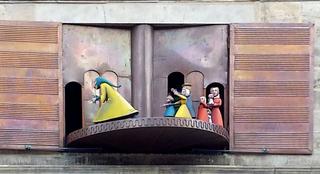 Hameln: Rattenfänger Figurenspiel #2 - Hameln, Glockenspiel, Figurenspiel, Carillon, Rattenfänger, Sage, Figuren, Hochzeitshaus, Giebel