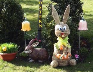 Motiv Ostern - Ostern, Osterhase, österlich, Osterkarte, Hase, Vorlage, Frühling, fest, Schmuck, schmücken, Frühblüher, Dekoration