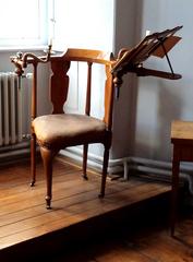 Musikstuhl - Musikstuhl, Möbel, Möbelstück, Musik, Kerzen, Notenpult, sitzen, musizieren