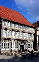 Hameln, Stiftsherrenhaus  - Weserrenaissance, Fachwerk, Museum, Altstadt, Stiftsherrenhaus