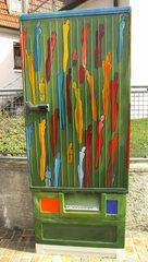 Bemalter Stromkasten/Umspannungskasten - Stromkasten, Umspannungskasten, Kunst, Objektkunst