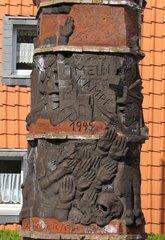 Helmstedt - Gerechtigkeitssäule # 6 - Helmstedt, Säule, Gerechtigkeit, Gericht, Obelisk, Skulptur, Denkmal, Weltkrieg, Judenverfolgung, Relief