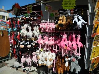 Souvenirs Camargue#1 - Frankreich, Camargue, Rhone, Stier, taureau, cheval, Pferd, weiß, Flamingo, flamand, souvenir, Andenken, Stofftier