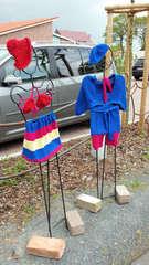 Urban Knitting #14 - stricken, häkeln, Kultur, Knitting, Graffiti, Kunst, Motiv, Impression, Motiv, warm, Wolle, Strickkunst, Objektkunst, Kunstobjekt, bunt, Verschönerung, Gemeinschaft