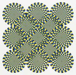 Optische Phänomene - Muster, Formen, Optik, optisch, bunt, Symmetrie, symmetrisch, Physik, Illusion, Täuschung, visuelle Wahrnehmung, Sehphänomene, sehen, geometrische Muster, Bewegung, bewegen