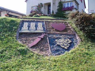 Alsace - Alsace, Wappen, Blütenbild, Schwert, Trauben