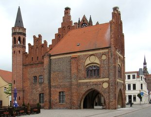 Tangermünde - Rathaus #1 - Rathaus, Backsteingotik, Backstein, Gotik