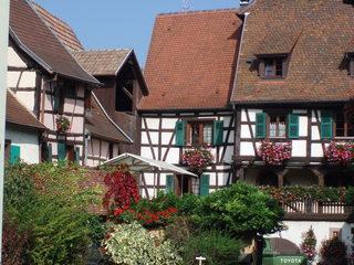Maisons d'Alsace - Typische Häuser aus dem Elsass  - Elsass, Fachwerkhaus, Häuser, Dorf, Frankreich