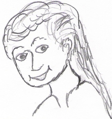 Frau - Mama, Mami, Mutti, Anlaut M, Frau, weiblich, Haare, lächeln, Blick, Augen, Gesicht, Familie, Mutter, Mensch, Mädchen