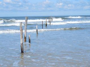 Brandung der Nordsee - Wellen, Wogen, Schaumkronen, Brandung, Wellengang, Nordsee
