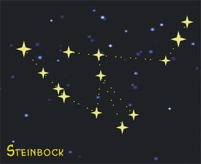 Sternbild Steinbock (Capricornus) – Tierkreiszeichen Steinbock: - Astronomie, Astrologie, Himmel, Sterne, Sternzeichen, Tierkreiszeichen, Nacht, Sternbilder, Steinbock.