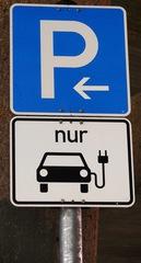 Elektromobilität: Verkehrsschild - E-Mobil, elektrisch, Elektromobilität, Elektroauto, Elektrizität, Mobilität, Strom, Akku, laden